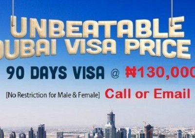 Dubai 3 Month Visa Unbeatable Offer ₦130,000